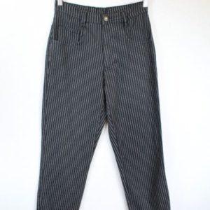 pantalon noir a rayures grises levers jeans frip in shop