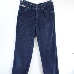 pantalon velours cotele bleu marine carrera frip in shop