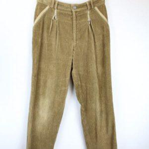pantalon velorus cotele marron frip in shop