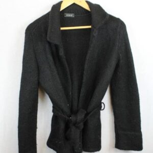 gilert peignoir laine noire kookai frip in shop