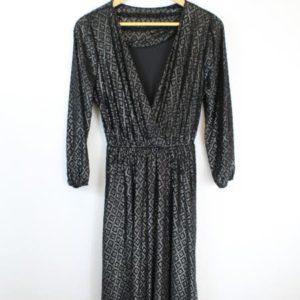 robe cache coeur noire a motifs lurex frip in shop