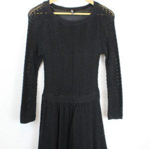 robe crochet noir naf naf frip in shop