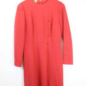 robe rouge boutons frip in shop