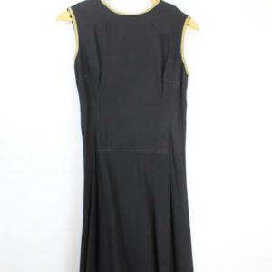 robe sans manches noire et ligne doree frip in shop