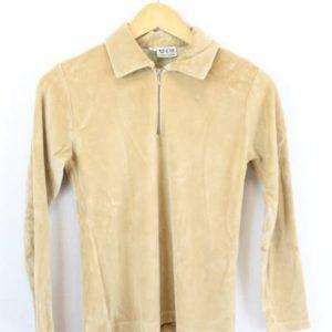 sweat velours lisse beige frip in shop